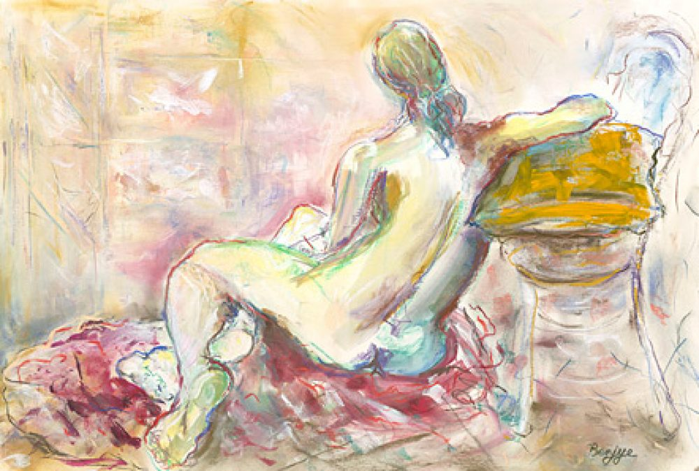 Distant Dreams is an original drawing of single figure and for sale here by the artist Benjye Troob