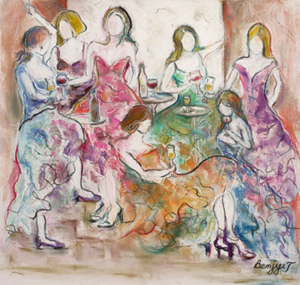Girls Night out is a Giclee print by the artist Benjye Troob