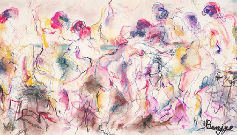 Connections is an original multiple nude figure painting by artist Benjye Troob