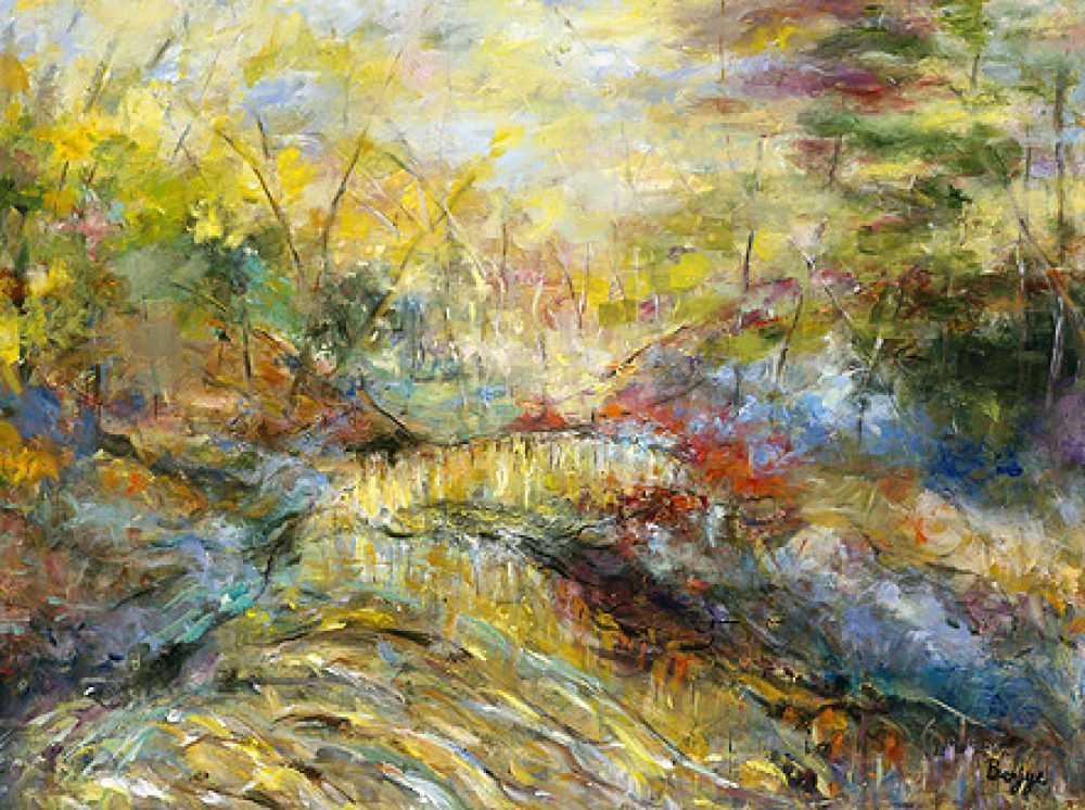 Country Crossing is an original landscape painting for sale by artist Benjye Troob