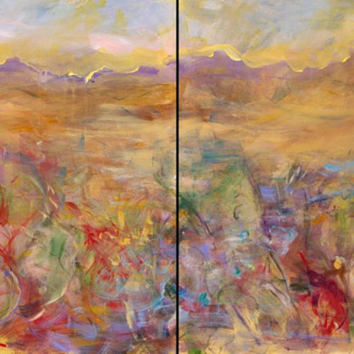 Desert Series I and II is an original landscape painting by artist Benjye Troob