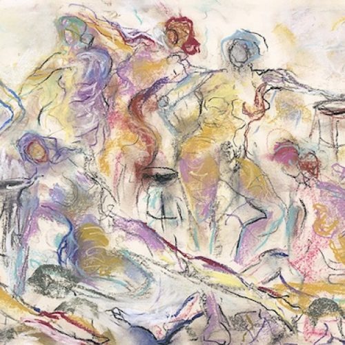 Far and Away is an original drawing of multiple nude figures and is for sale here by the artist Benjye Troob