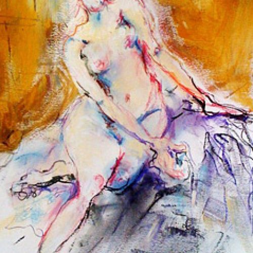 Golden Memories is an original drawing of single figure and for sale here by the artist Benjye Troob