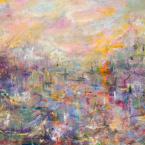 Harbor View is an original landscape painting for sale by artist Benjye Troob