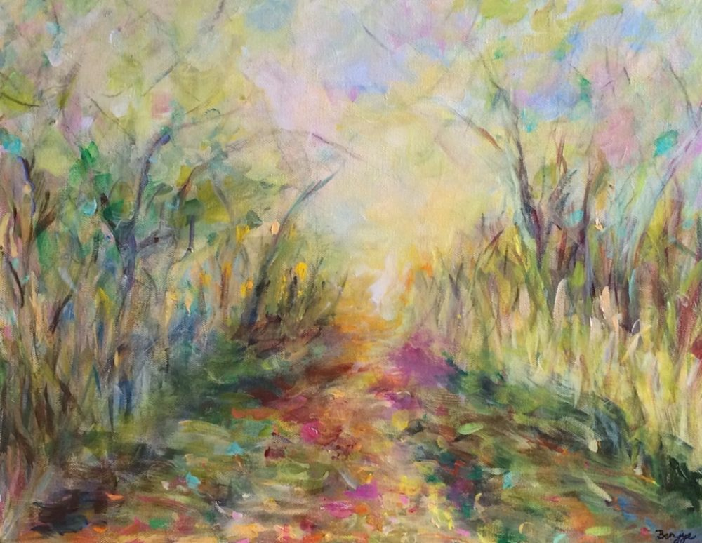 Orleans Pathway is an original landscape Painting by the artist Benjye Troob