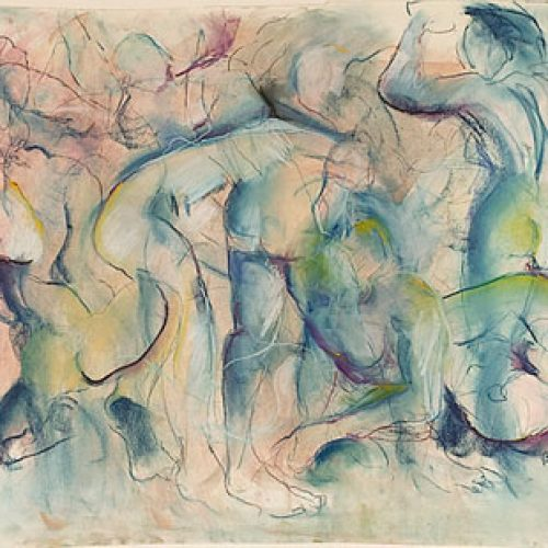 Lagoon Days is an original drawing of multiple nude figures and is for sale here by the artist Benjye Troob
