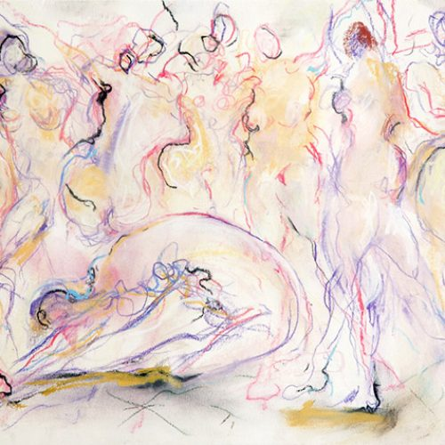 Morning Stretch is an original drawing of multiple nude figures and is for sale here by the artist Benjye Troob