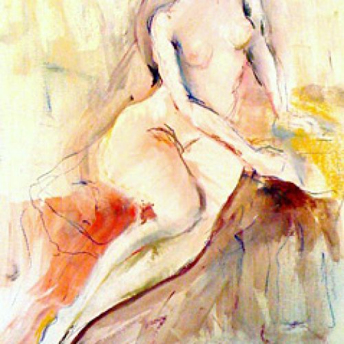 Morning Repose is an original drawing of single figure and for sale here by the artist Benjye Troob