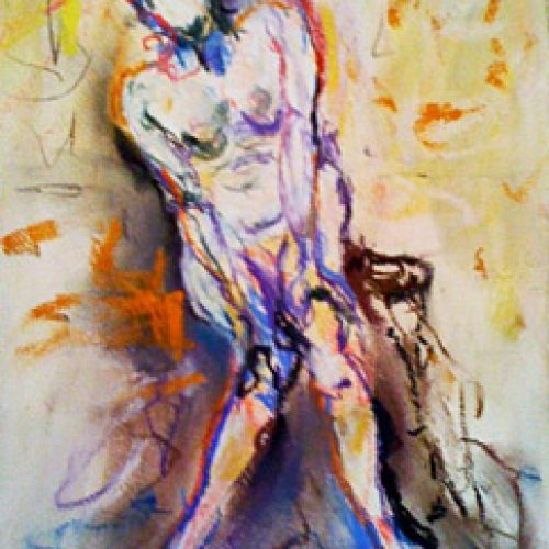 Oh My is an original drawing of single figure and for sale here by the artist Benjye Troob