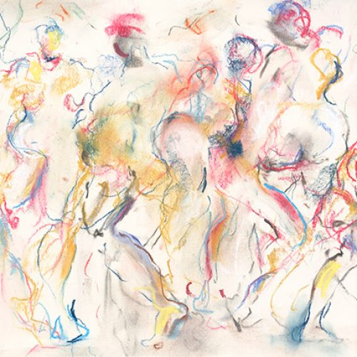 On the Run is an original drawing of multiple nude figures and is for sale here by the artist Benjye Troob