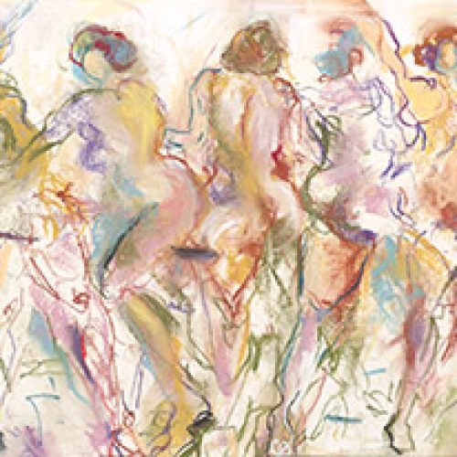 Opening Act is an original multiple figure nude painting by artist Benjye Troob