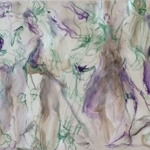 Painted Ladies is an original drawing of multiple nude figures and is for sale here by the artist Benjye Troob
