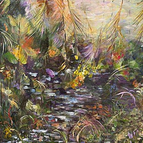 Painted Glade is an original landscape painting for sale by artist Benjye Troob