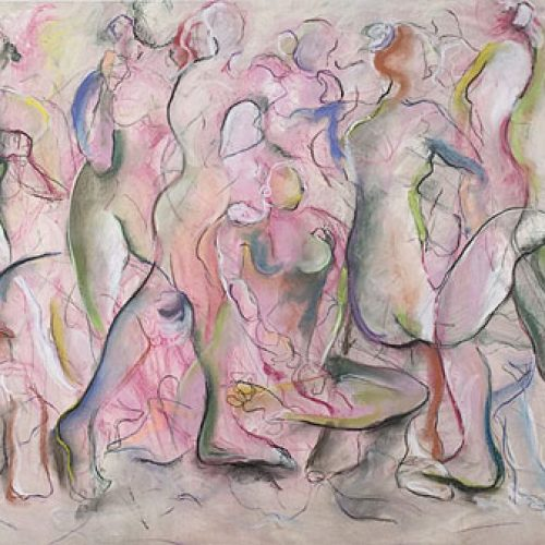 Peppermint Souls is an original drawing of multiple nude figures and is for sale here by the artist Benjye Troob