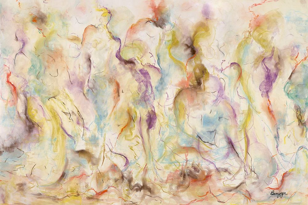 Rio is an original drawing of multiple nude figures and is for sale here by the artist Benjye Troob