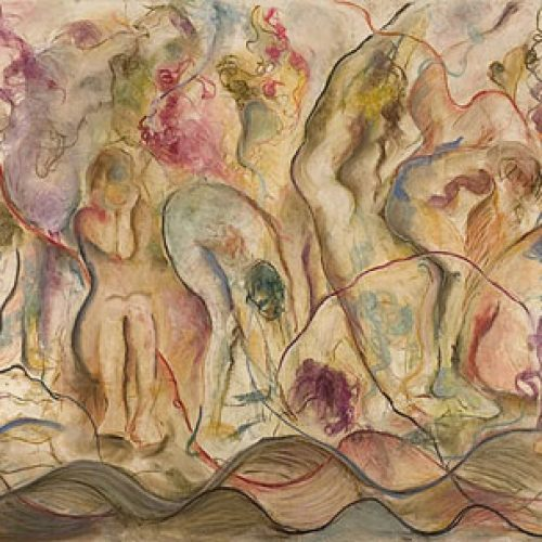 Spring Offering is an original drawing of multiple nude figures and is for sale here by the artist Benjye Troob