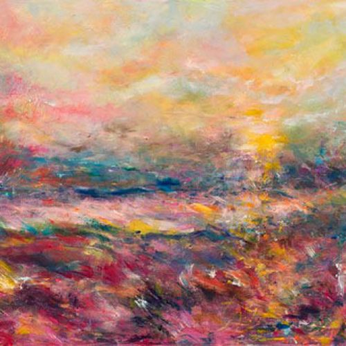 Sunset is an original landscape painting by Benjye. Troob