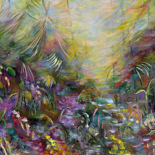 Tropical Haven is an original landscape painting for sale by artist Benjye Troob