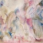 Backstage Chatter is an original drawing of multiple nude figures and is for sale here by the artist Benjye Troob