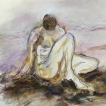 This original single nude figurative pastel only her at benjye.com