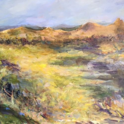 Desert Brush is an original Acrylic Landscape by artist Benjye Troob