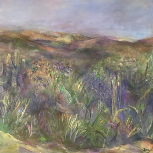 This Benjye painting captures the beauty of the Spring desert