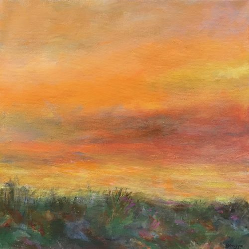 This painting captures of the beauty of the Arizona sunrise .